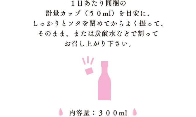 1日あたり添付の計量カップ(50ml)1杯を目安に